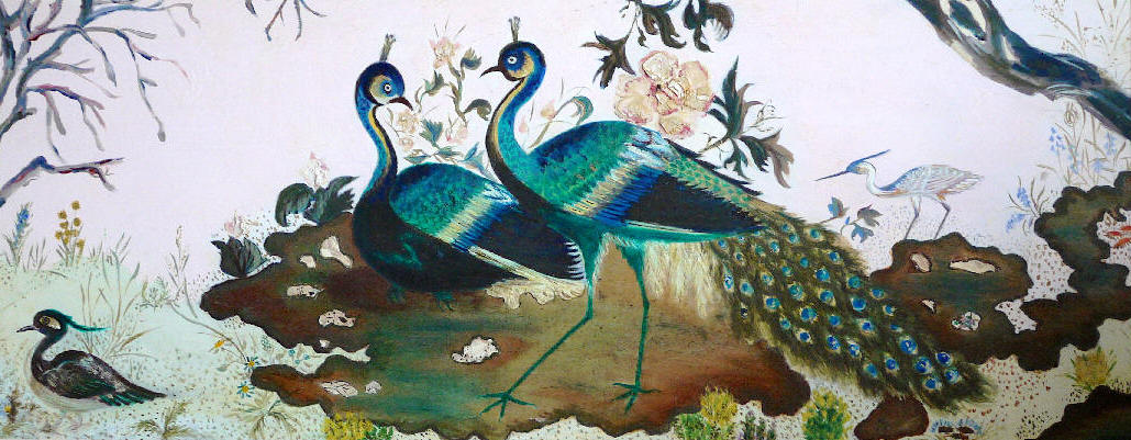 Painting of peacocks