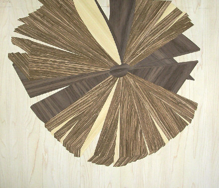 Marquetry design of books