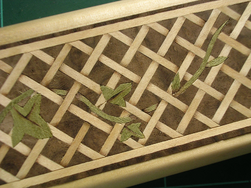 open basketweave with vine