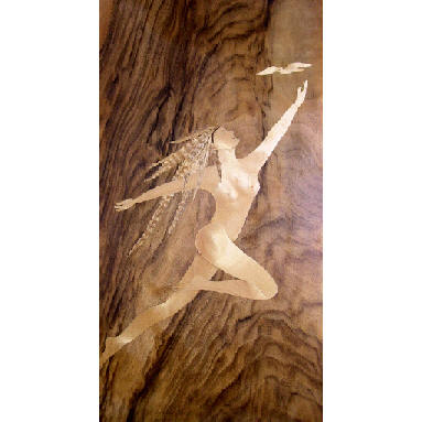 marquetry picture of naked lady