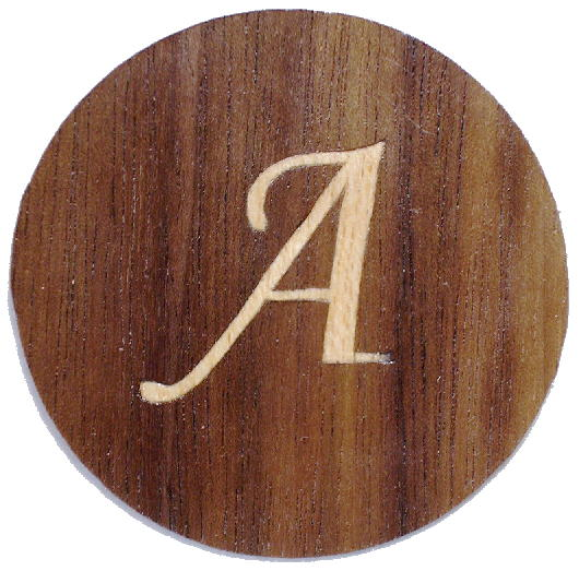 Initial 'A' inlay
