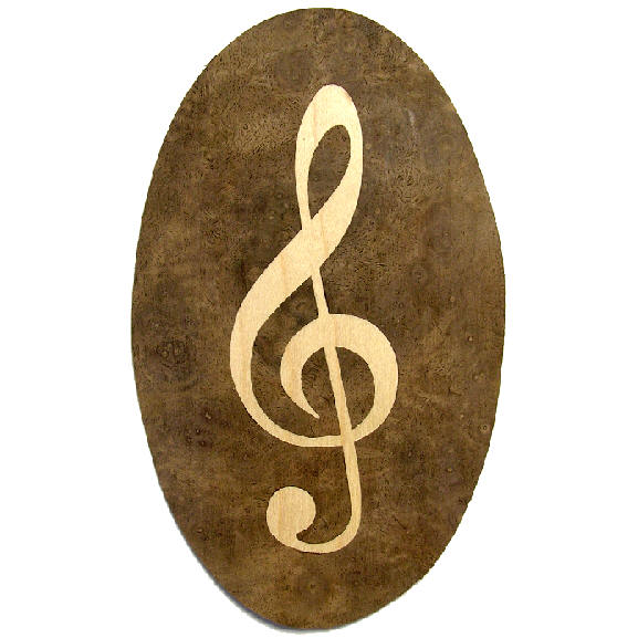 treble clef inlay