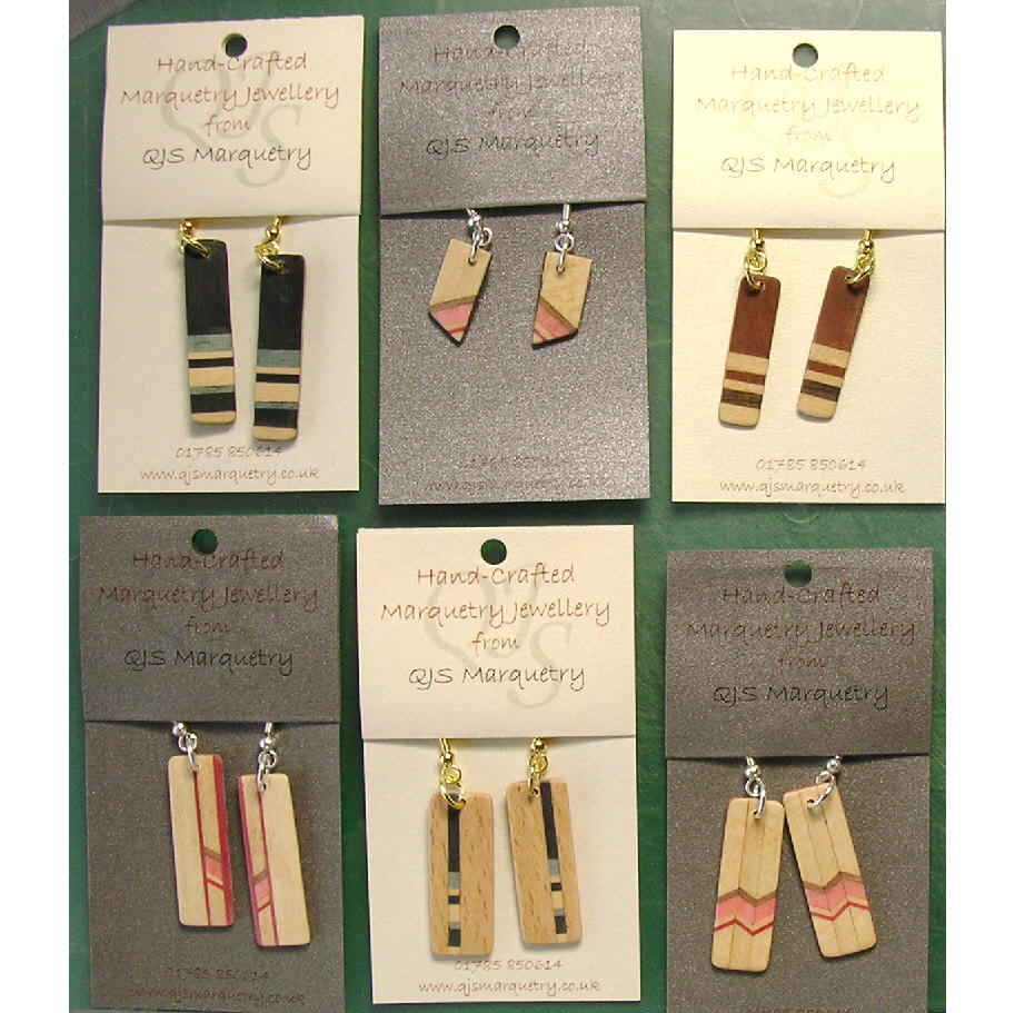 Marquetry earrings