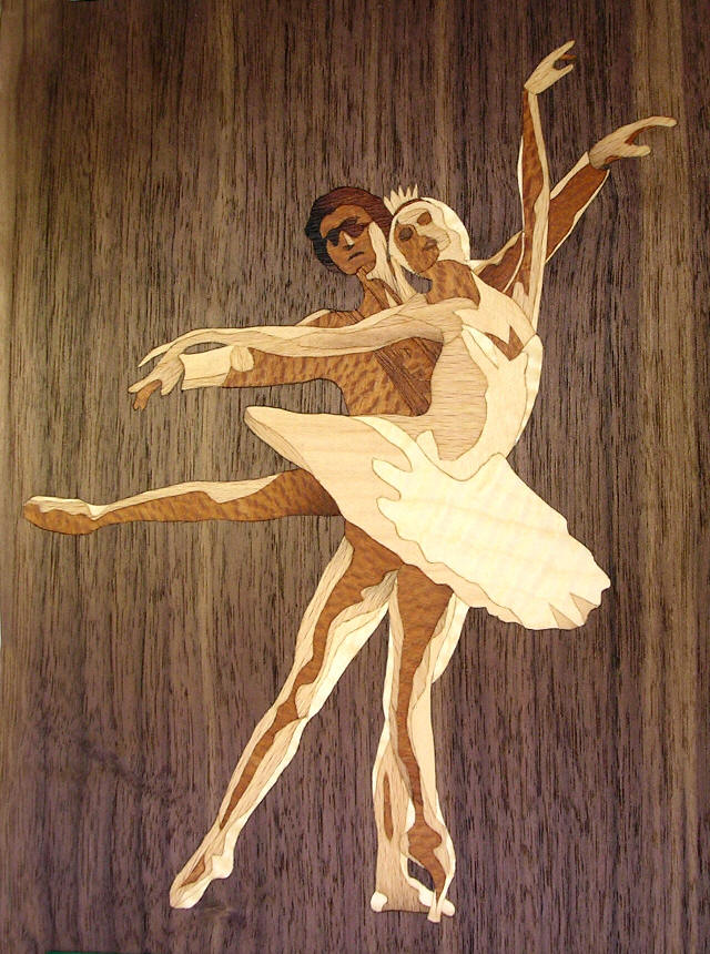 Marquetry bllet dancers