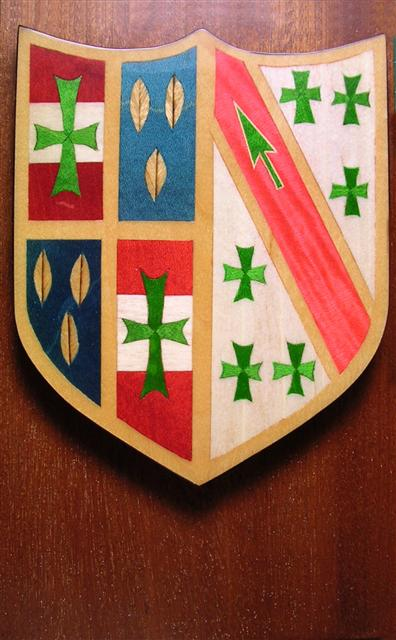 Crest in marquetry