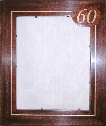 Photgraph frame with numerals '60'