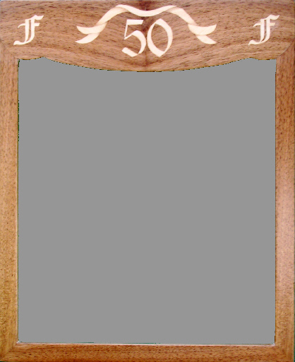 Photgraph frame with numerals '50' and initials